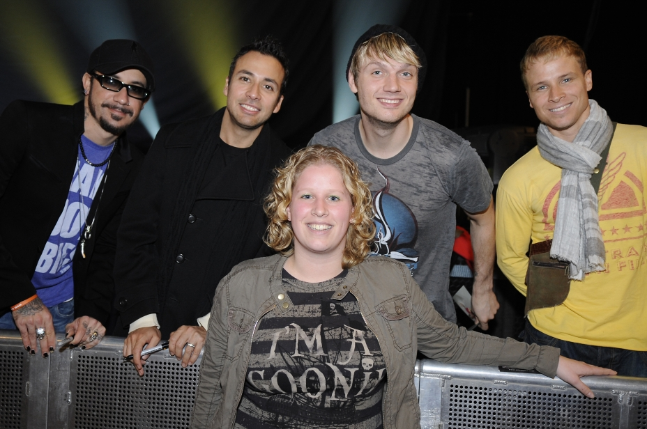Me with the Backstreet Boys in Zurich (Switserland) 2008