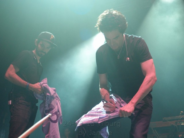 Signing Shirts after the show