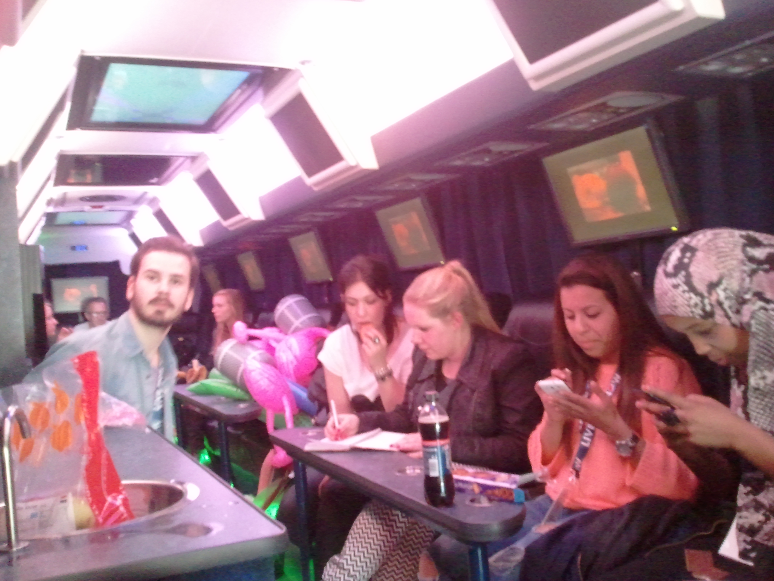 Inside The Bus With The Other Winners