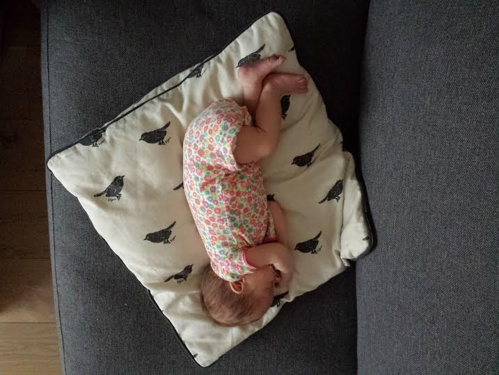 When she I finally sleeping I am very happy...and so is Lola