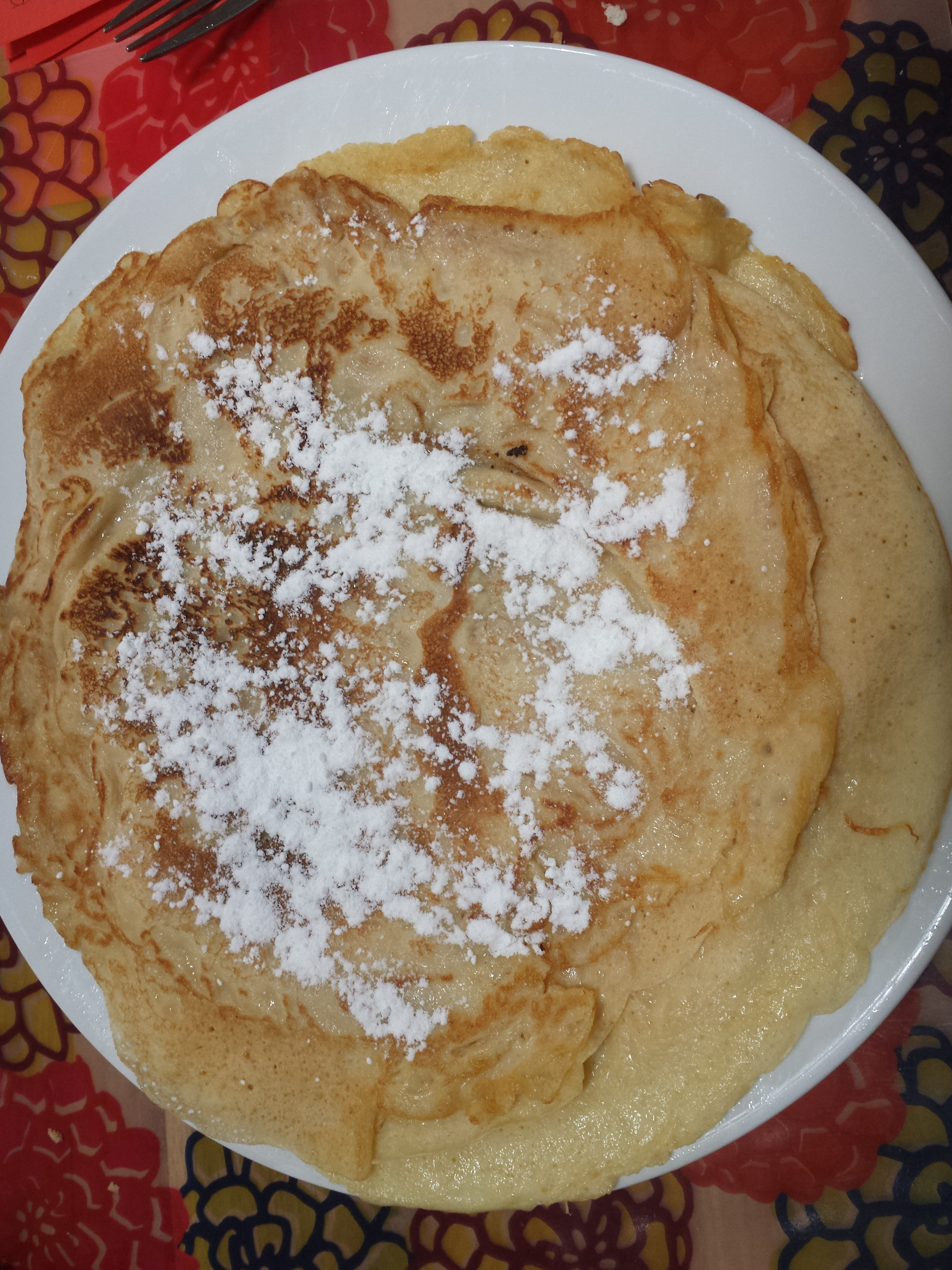 Trying new recipies like these coconut milk pancakes...yummy!