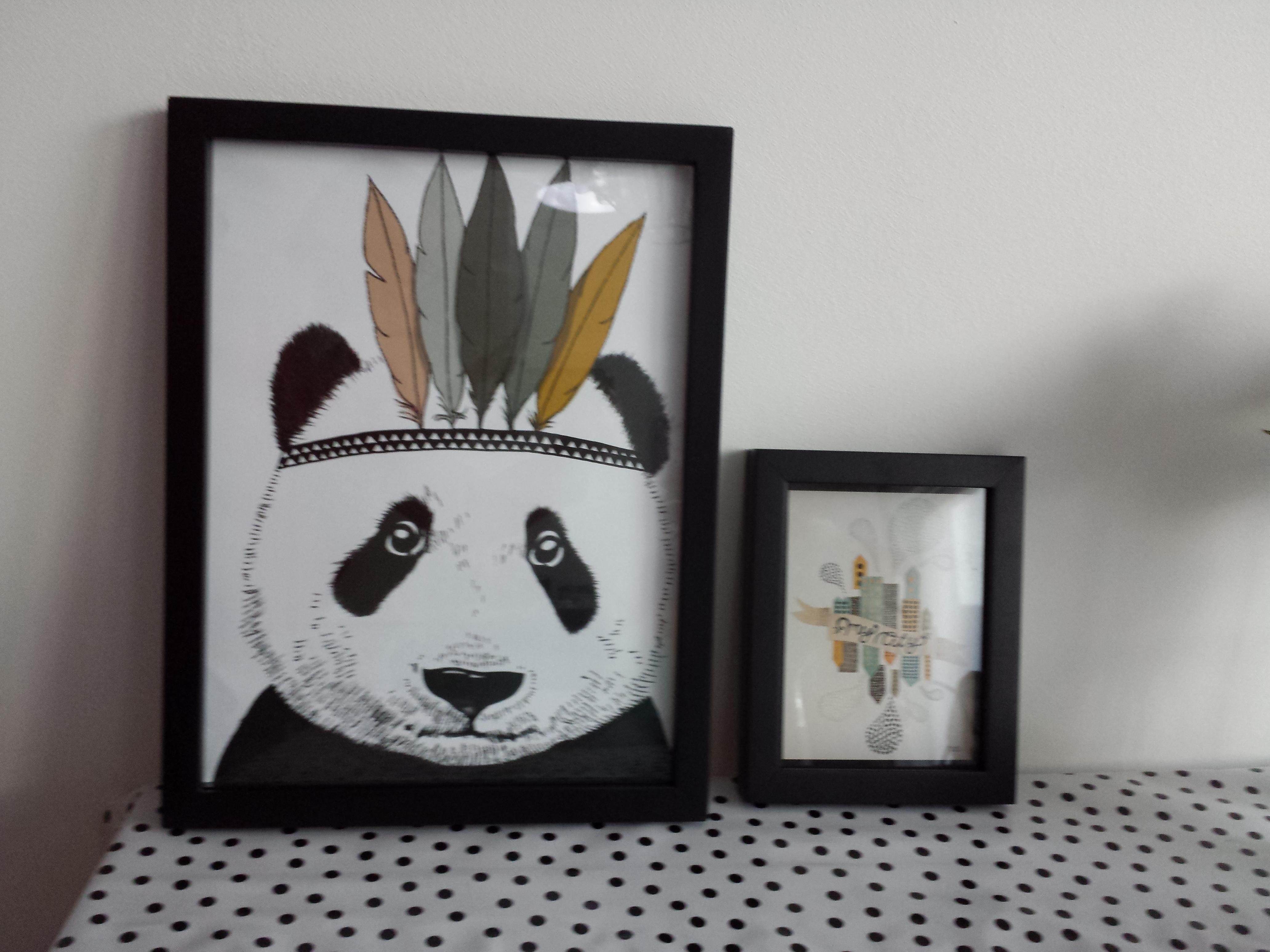 Pandabeer en stad poster