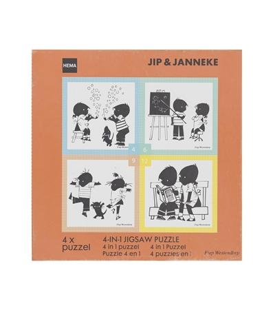 Jip & Janneke 4-in-1 puzzel   Hema €4,-