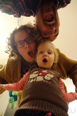 Selfie met papa en mama