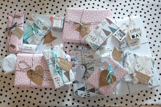 Mijn cadeautjes worden morgen verstuurd, spannend!