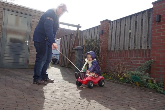 auto rijden met papa