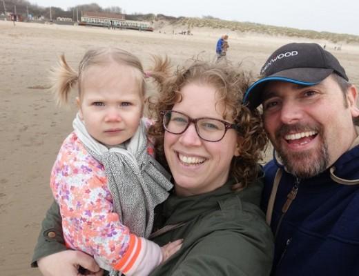 Eerste keer naar het strand