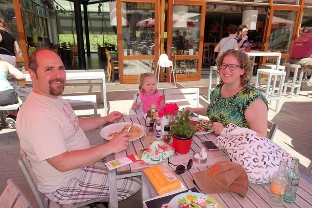 lunchen in de appeltuin