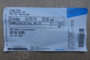Bryan Adams ticket