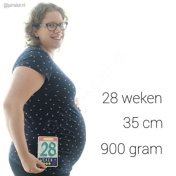 28 weken buikfoto