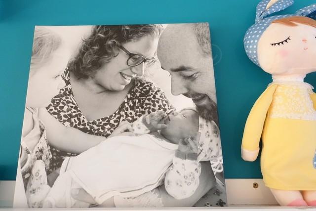 Onze eerste gezinsfoto op canvas