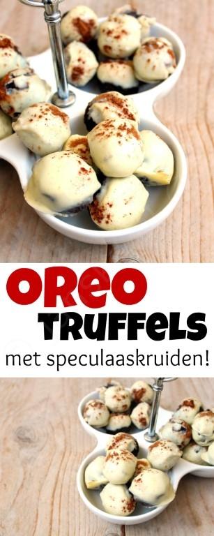 Deze oreo truffels met speculaaskruiden zijn de perfecte traktatie tijdens Sinterklaas! De warme kruiden en de oreo's zijn een superlekkere combinatie! :D