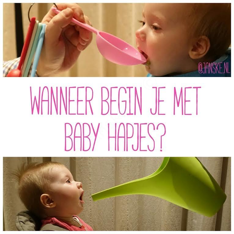 Wanneer Begin Je Met Baby Hapjes Baby Voeding Janskenl