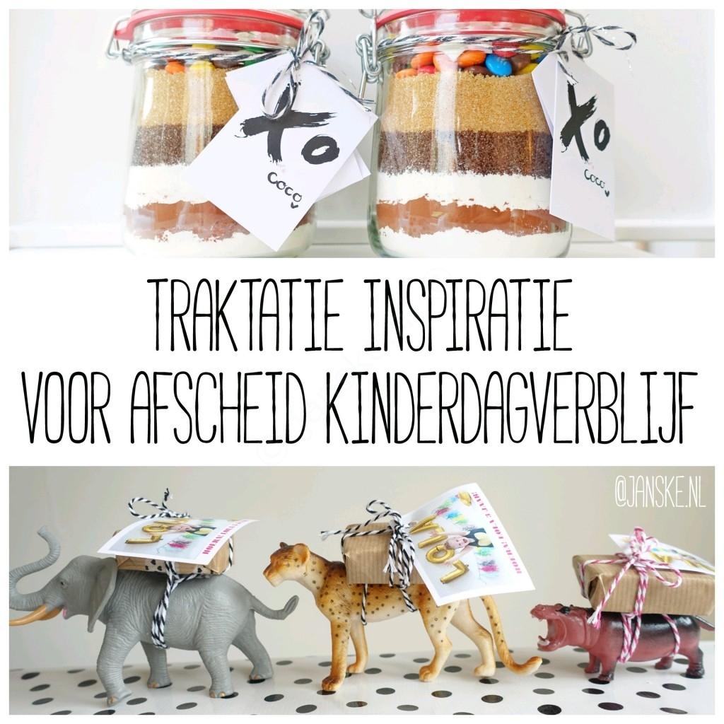 Wonderbaar Traktatie inspiratie voor afscheid kinderdagverblijf - Janske.nl VM-69