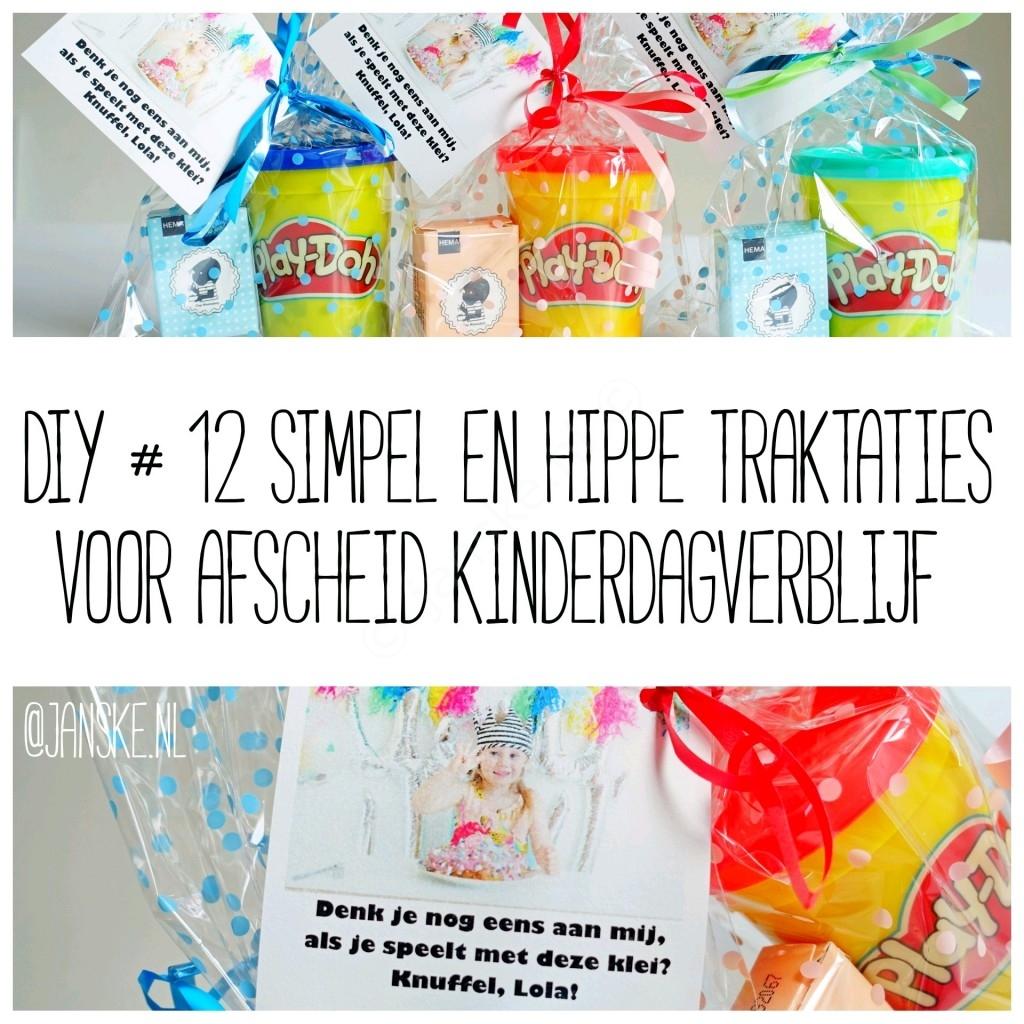 DIY #12 Simpel & Hippe traktaties voor afscheid op kinderdagverblijf