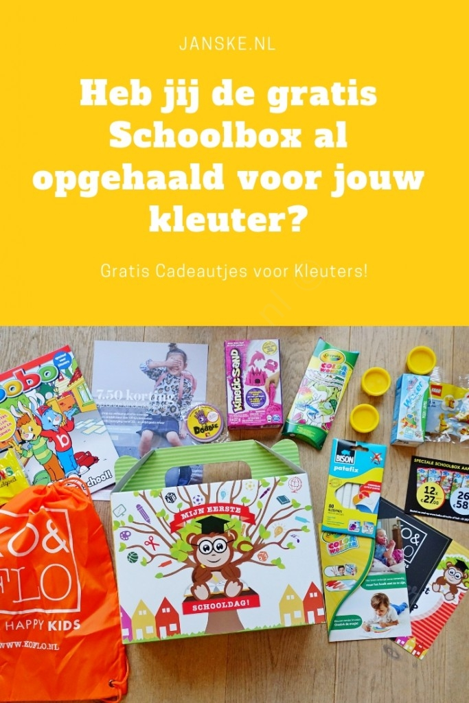 Heb jij de gratis Schoolbox al opgehaald voor jouw kleuter? Janske.nl