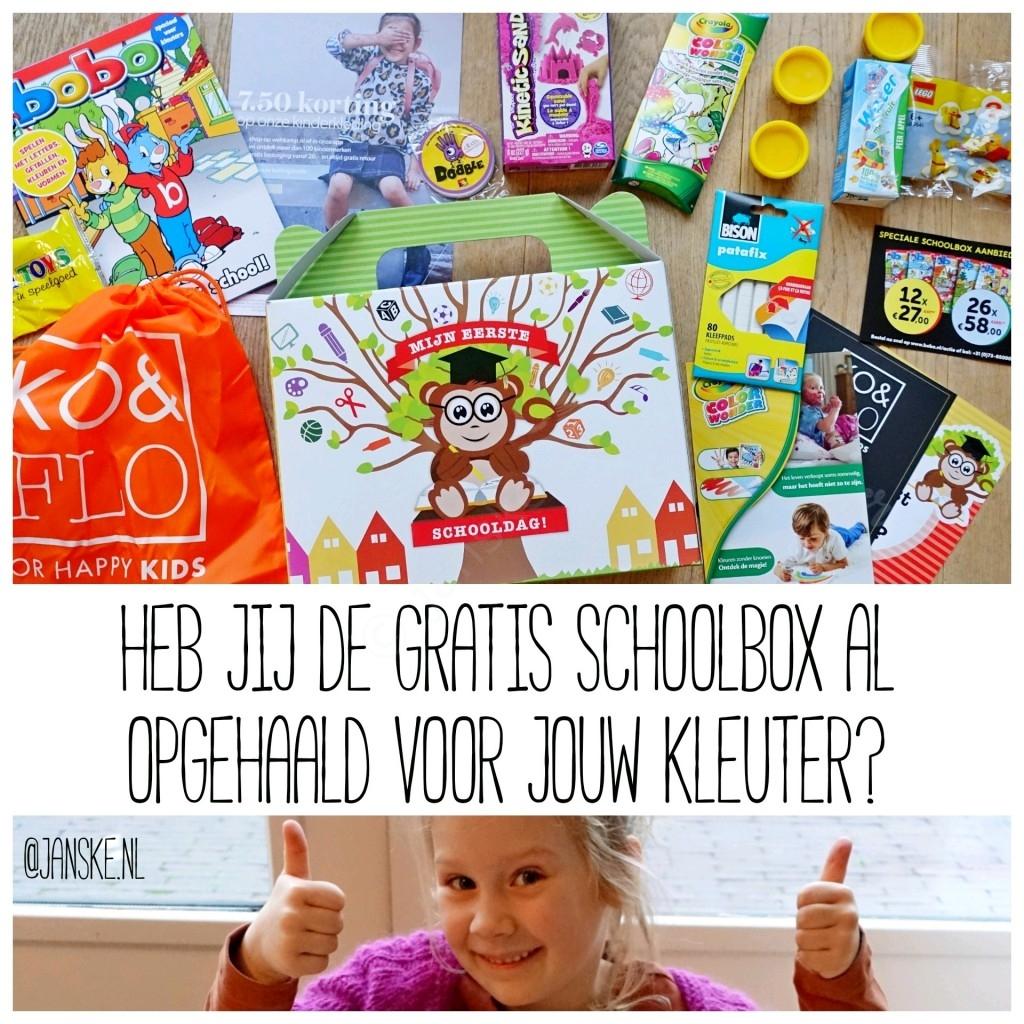 Heb jij de gratis Schoolbox al opgehaald voor jouw kleuter?