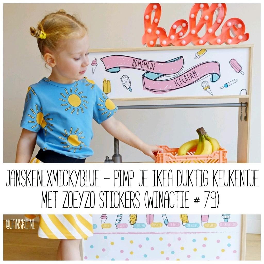 JanskenlxMickyBlue - Pimp je Ikea Duktig keukentje met Zoeyzo Stickers (Winactie # 79)