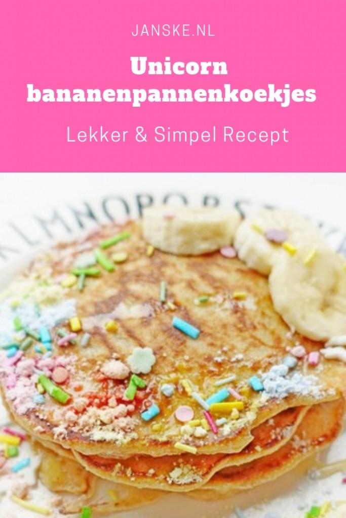 Unicorn bananenpannenkoekjes - lekker & simpel recept