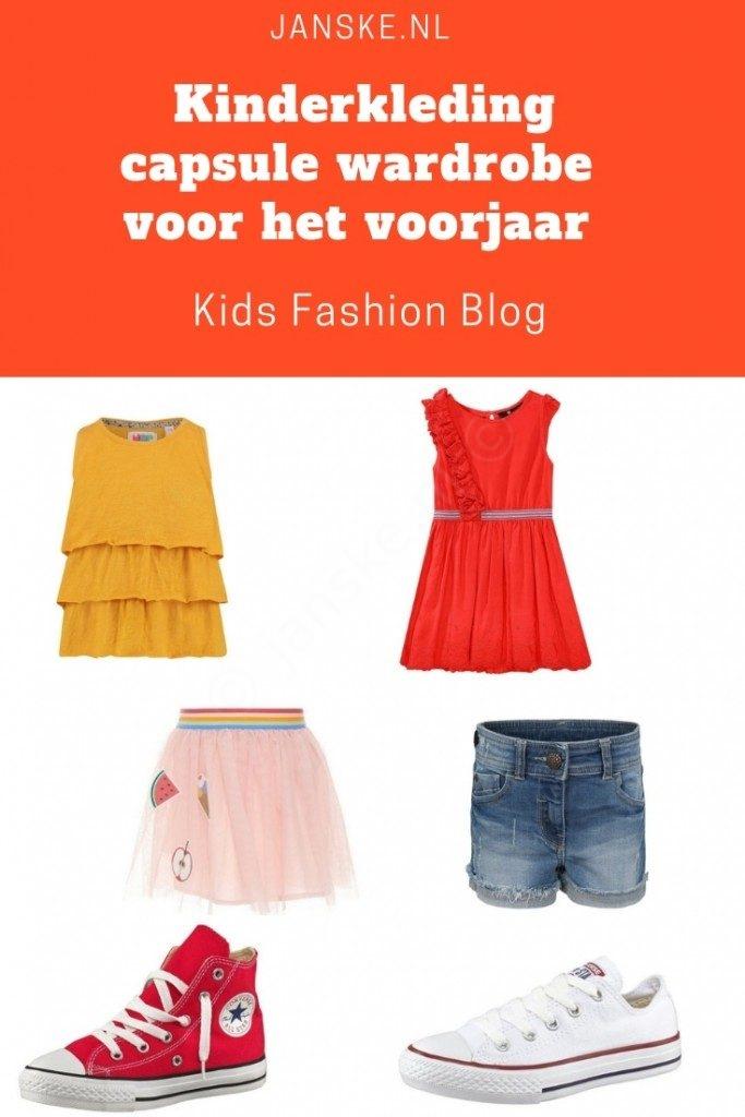 Kinderkleding capsule wardrobe voor het voorjaar