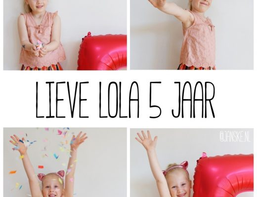 Lieve Lola 5 jaar