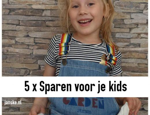 5 x Sparen voor je kids