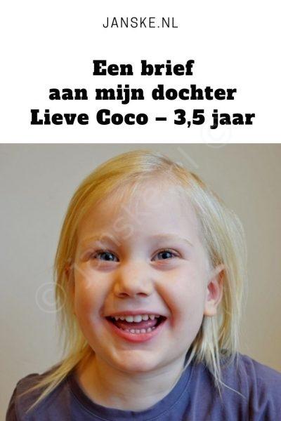 Een brief aan mijn dochter – Lieve Coco – 3,5 jaar