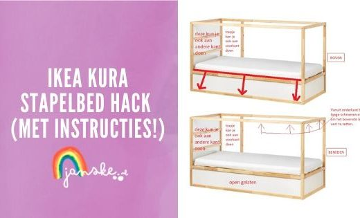 Ikea Kura stapelbed hack (met instructies!)