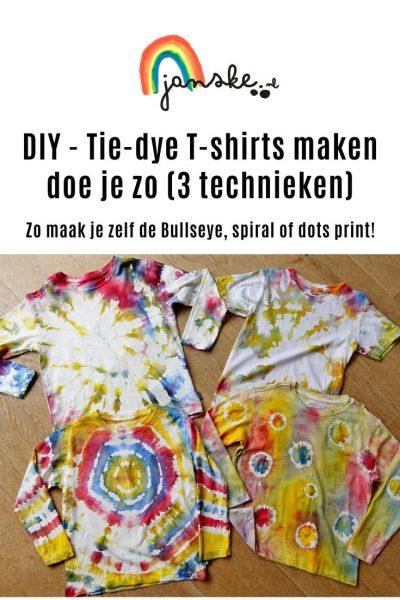DIY - Tie-dye T-shirts maken doe je zo (3 technieken)