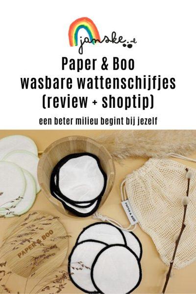 Paper & Boo wasbare wattenschijfjes (review + shoptip)