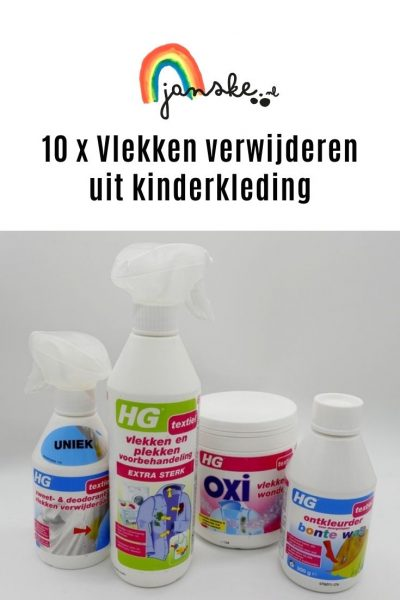 10 x Vlekken verwijderen uit kinderkleding