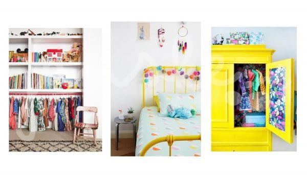 Kleurrijke kinderkamer bron: Pinterest