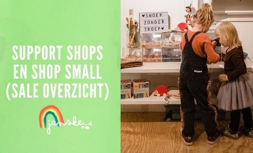 Support shops en shop small (sale overzicht)