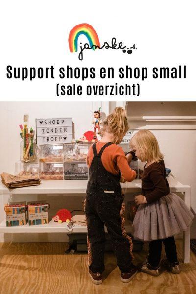 Support shops en shop small (sale overzicht)
