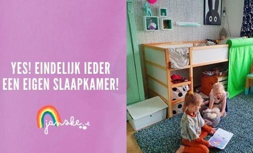 Yes! Eindelijk ieder een eigen slaapkamer!