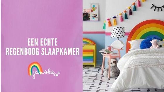 Een echte regenboog slaapkamer