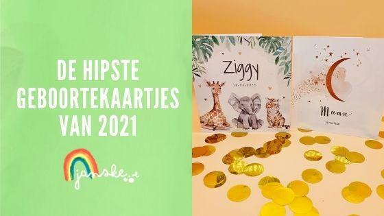 De hipste geboortekaartjes van 2021 (shoptip)