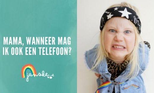 Mama, wanneer mag ik ook een telefoon?