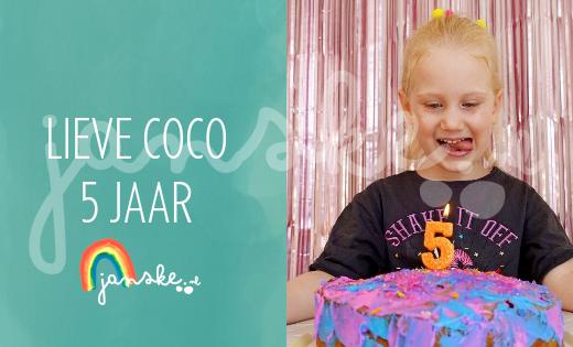 Lieve Coco 5 jaar