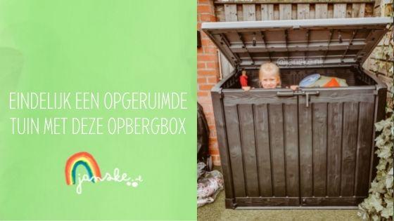 Eindelijk een opgeruimde tuin met deze opbergbox